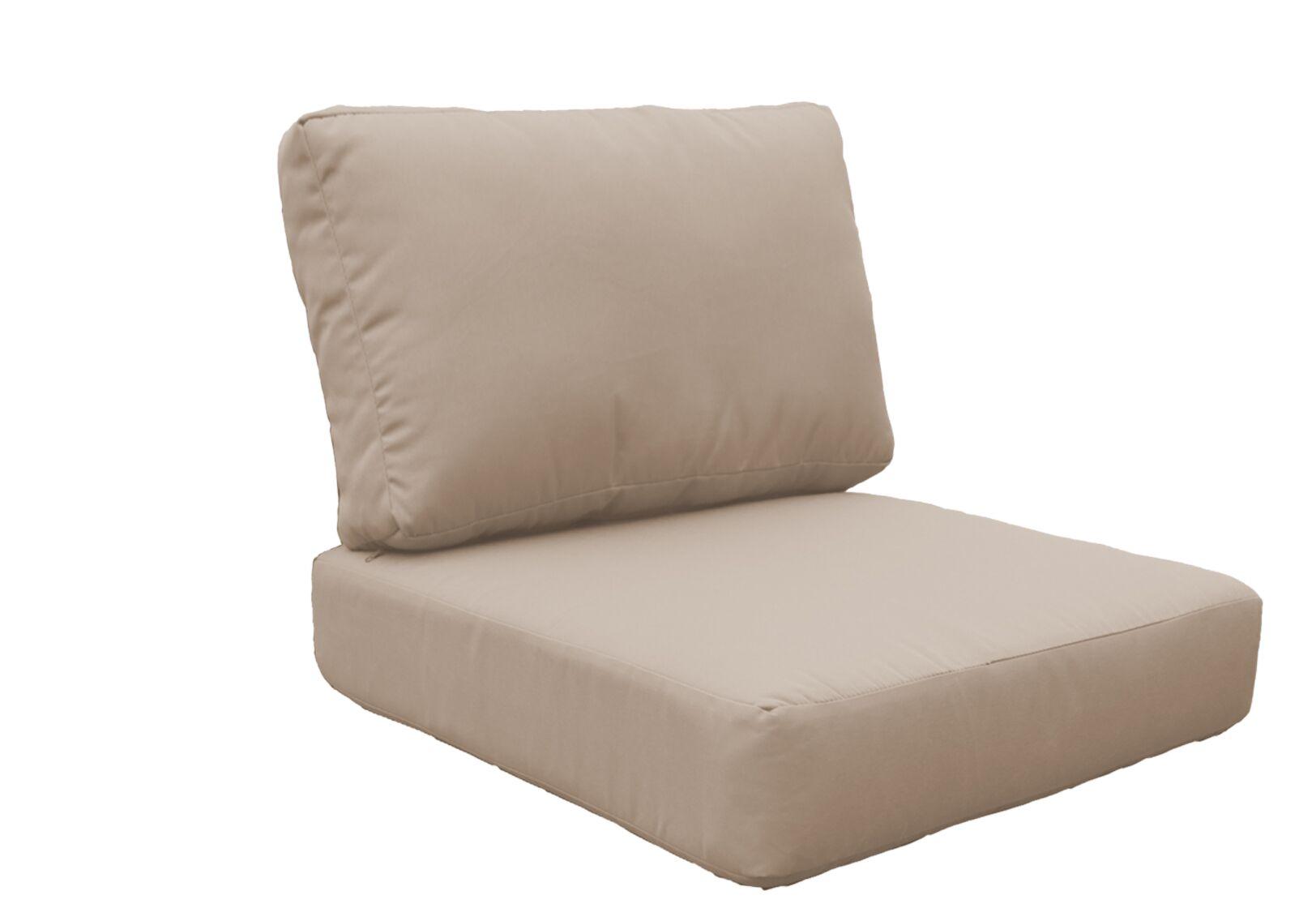 Miami 10 Piece Outdoor Lounge Chair Cushion Set Fabric: Wheat