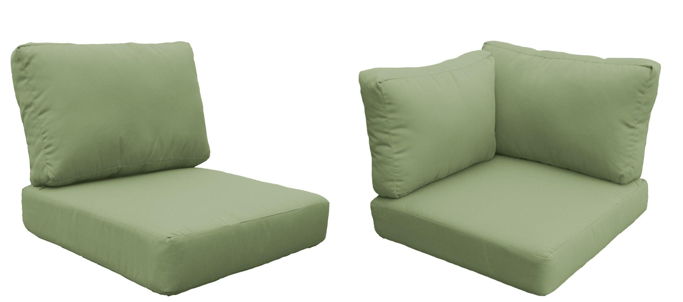 Miami 15 Piece Outdoor Cushion Set Fabric: Cilantro