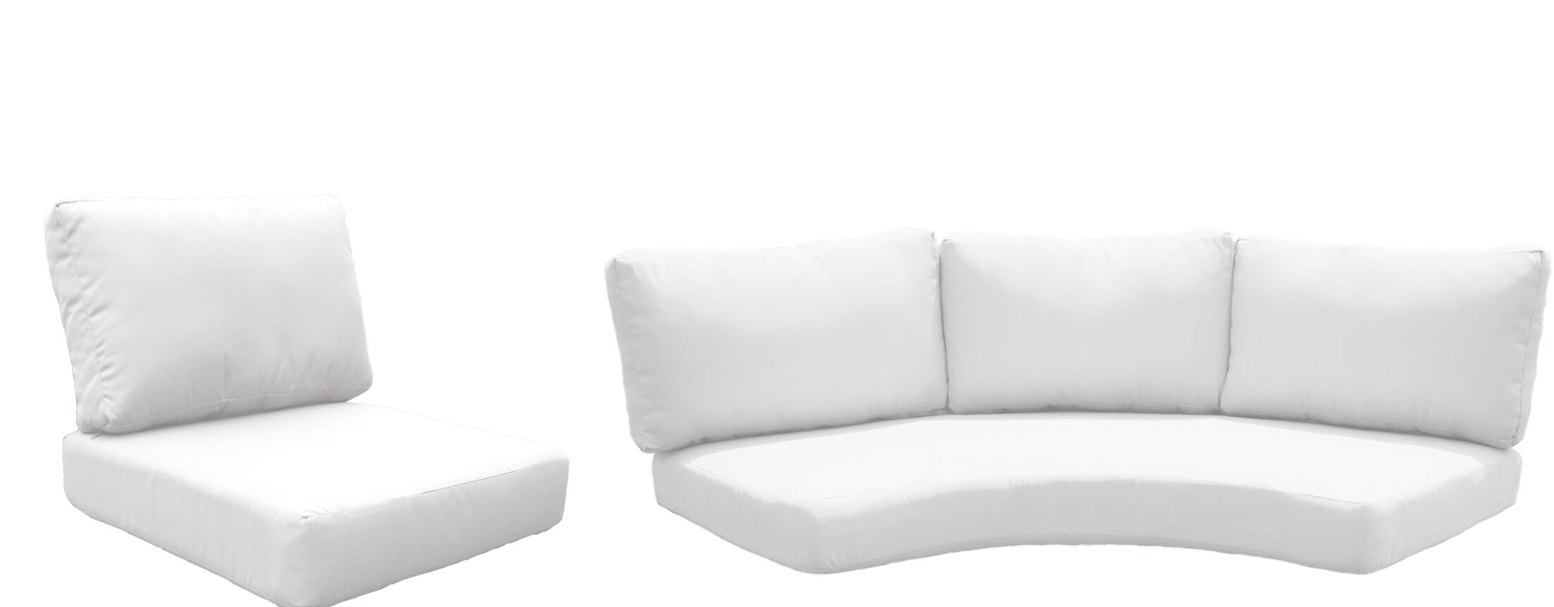 Florence 14 Piece Outdoor Cushion Set Fabric: White