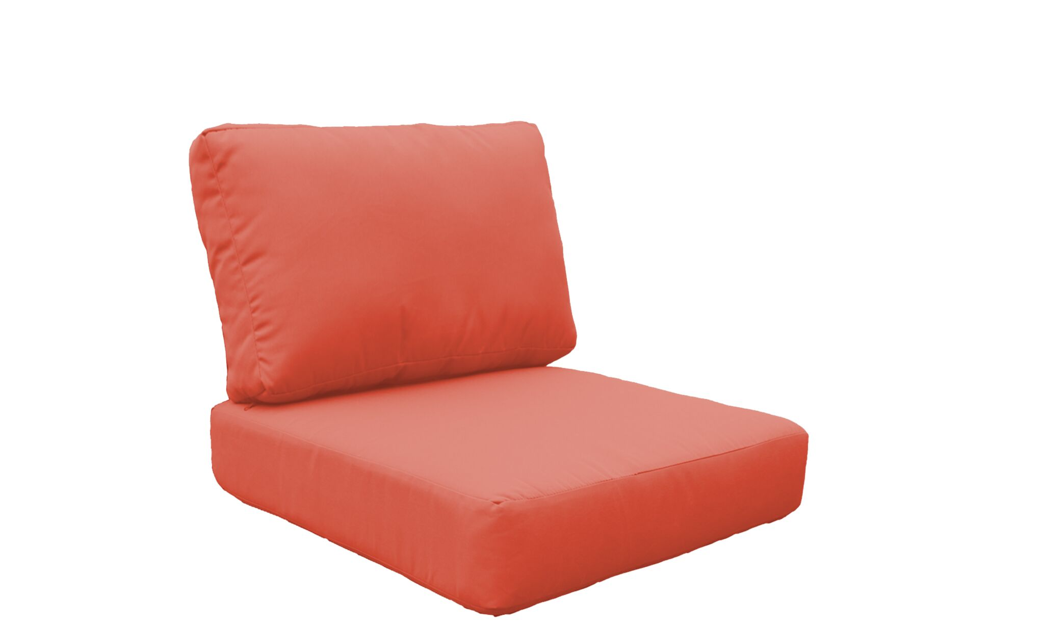 Florence 4 Piece Outdoor Lounge Chair Cushion Set Fabric: Tangerine