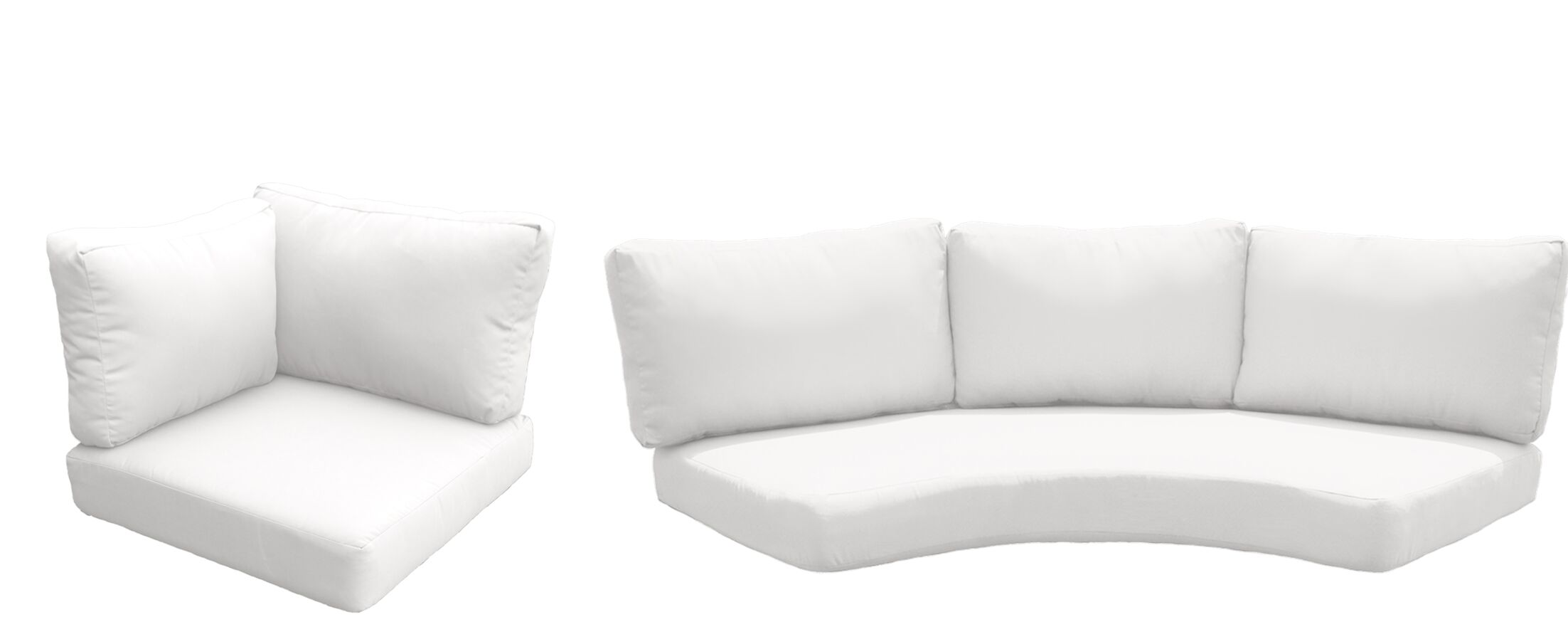 Barbados Outdoor Replacement Cushion Set Fabric: White