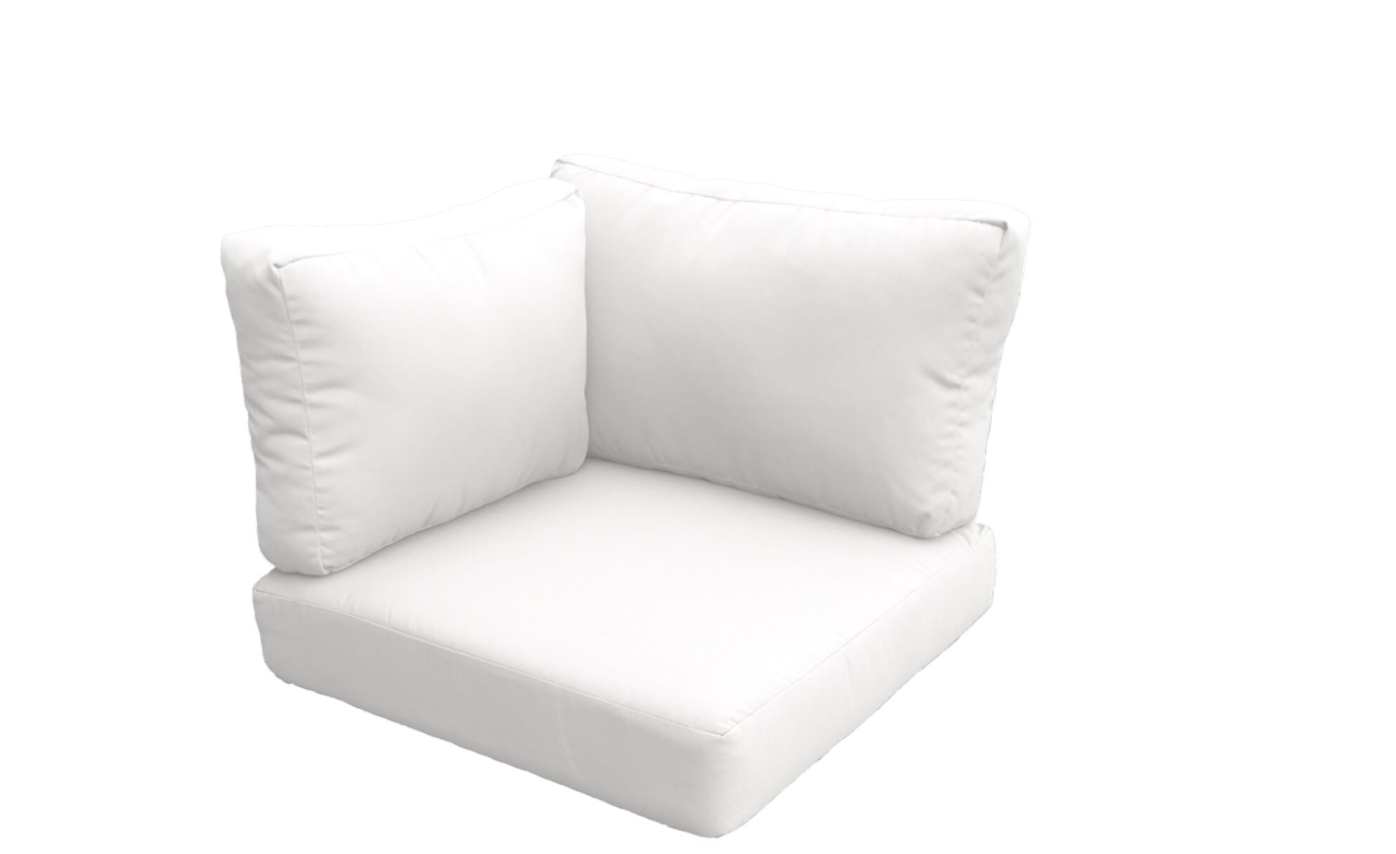 Florence Outdoor Replacement Cushion Set Fabric: White