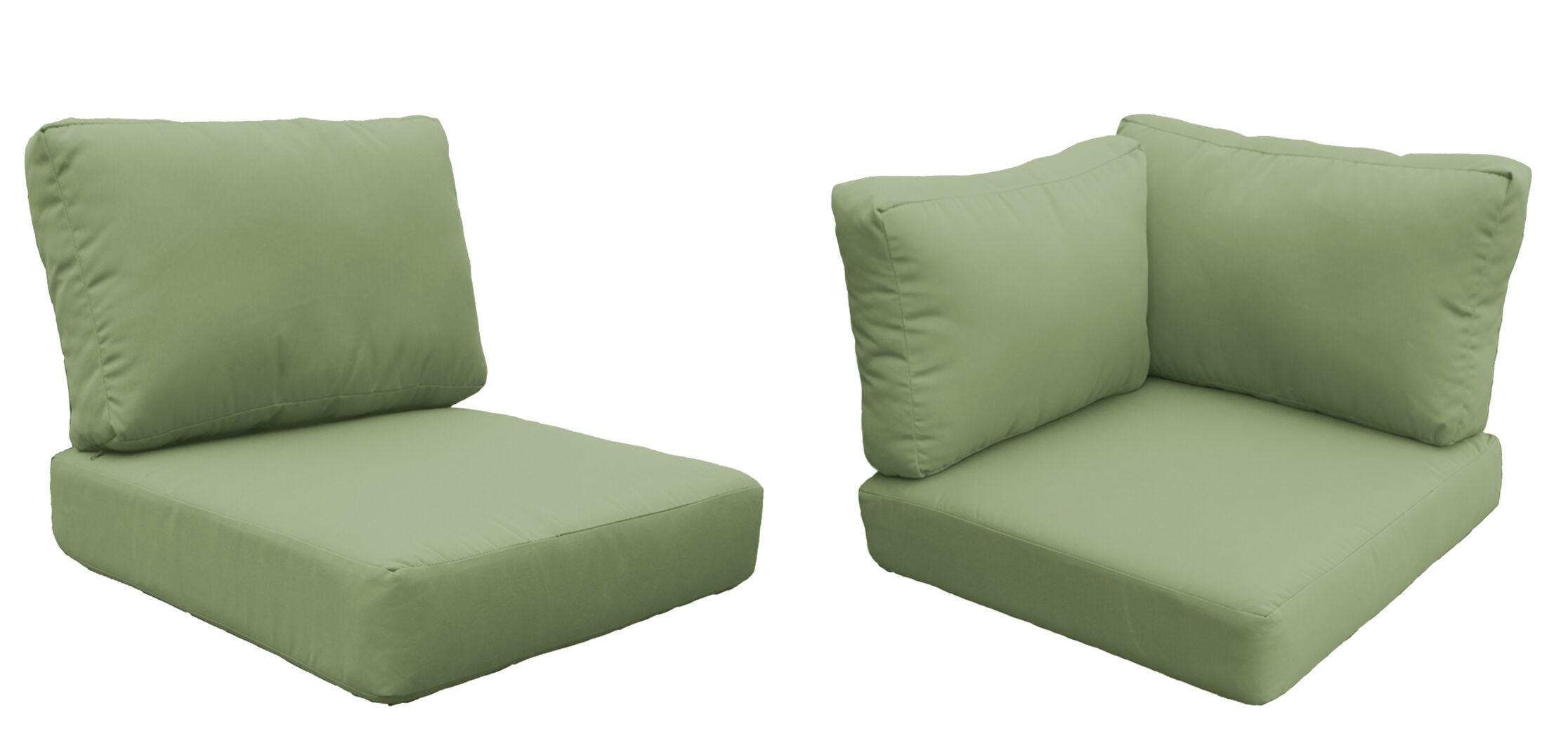 Florence 13 Piece Outdoor Cushion Set Fabric: Cilantro