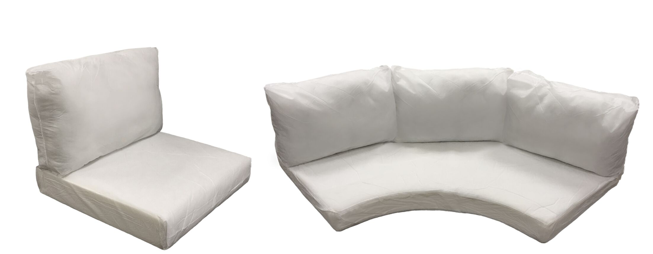 Barbados 10 Piece Outdoor Cushion Set Fabric: Coverless