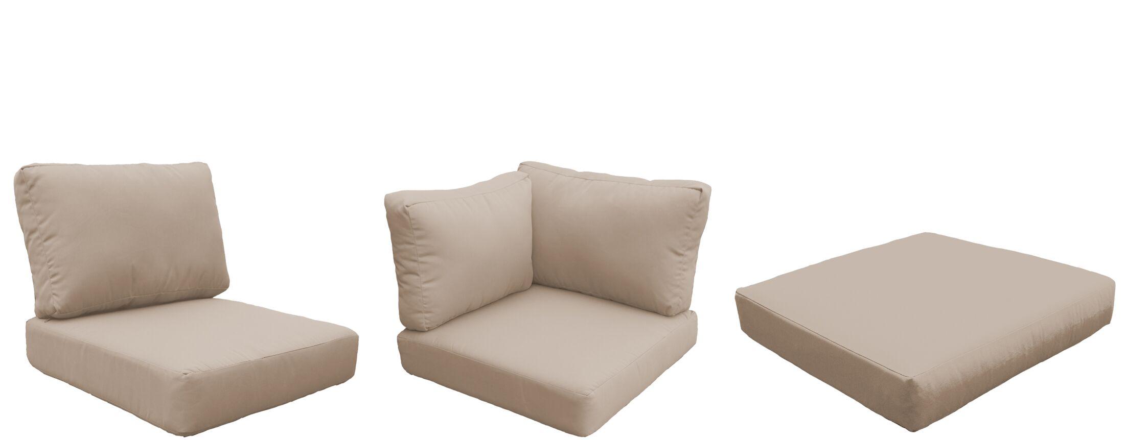 Florence 16 Piece Outdoor Cushion Set Fabric: Aruba