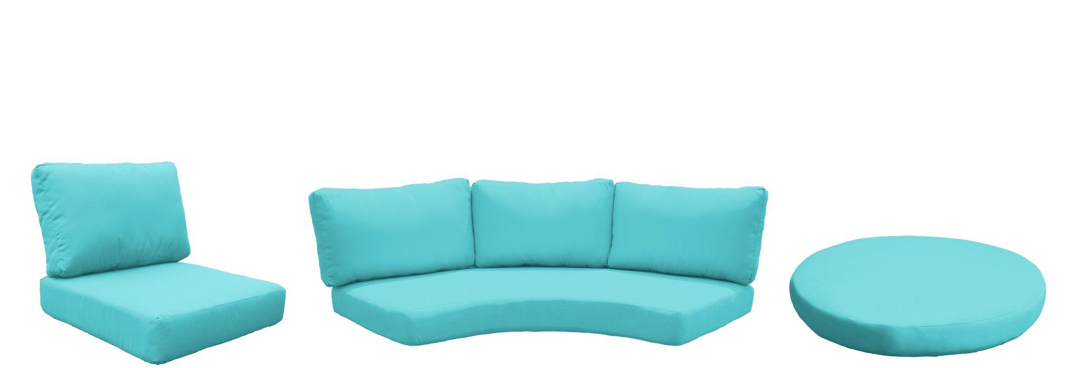 Barbados 11 Piece Outdoor Cushion Set Fabric: Aruba