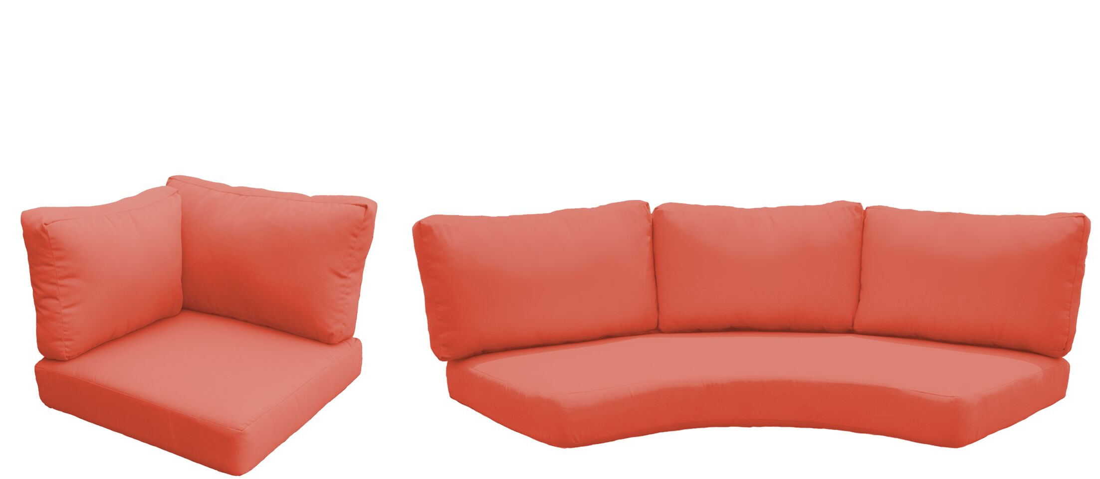 Florence 8 Piece Outdoor Cushion Set Fabric: Tangerine