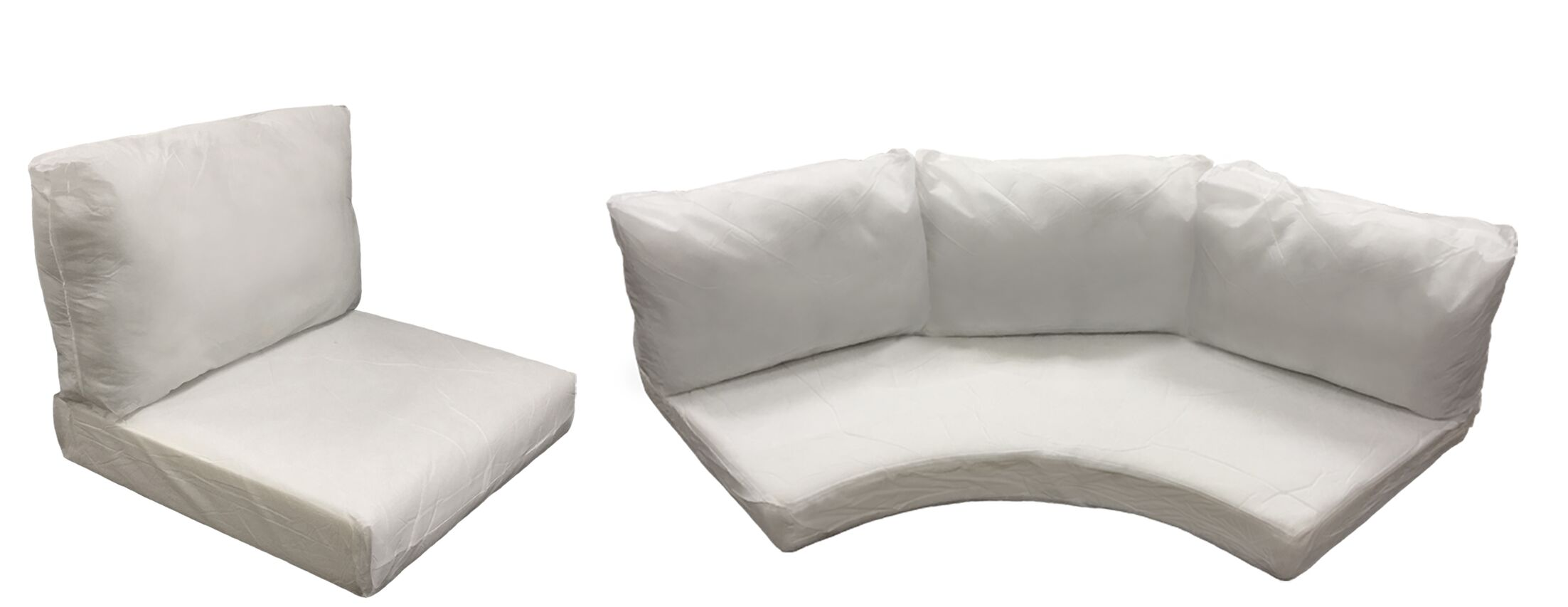 Florence 10 Piece Outdoor Cushion Set Fabric: Coverless