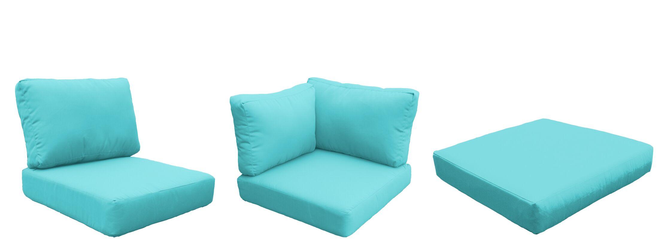 Florence 25 Piece Outdoor Cushion Set Fabric: Aruba
