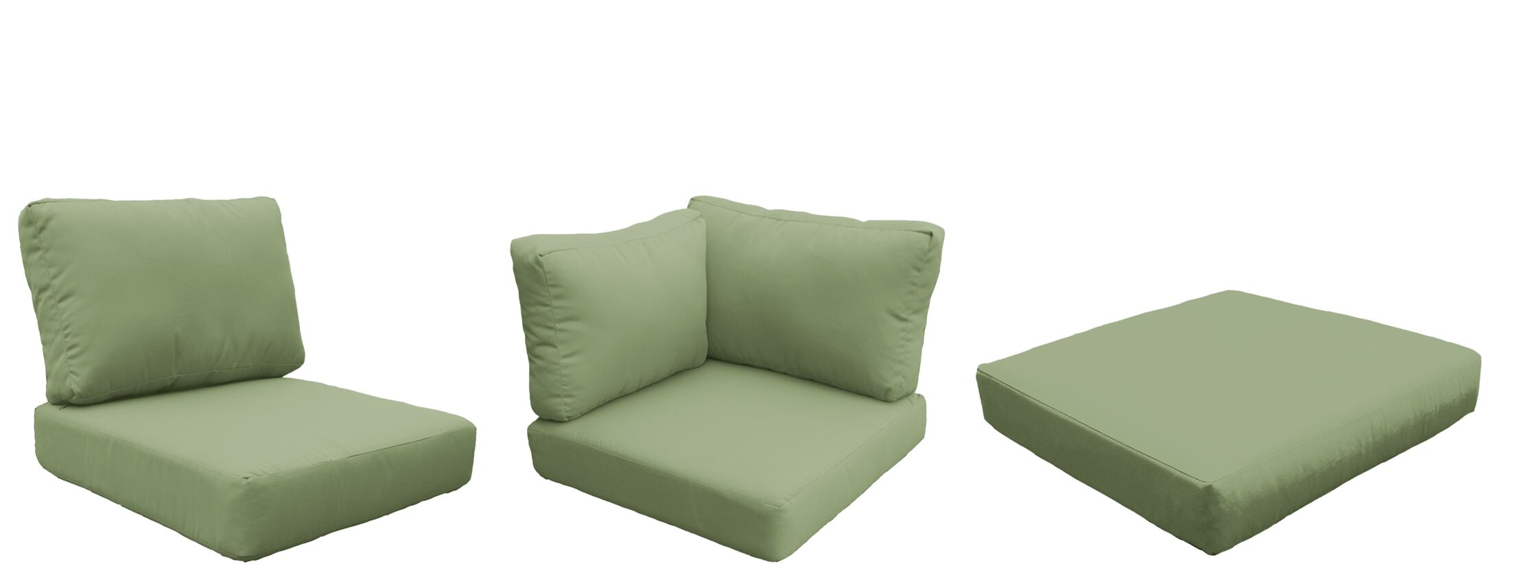 Barbados 9 Piece Outdoor Cushion Set Fabric: Cilantro