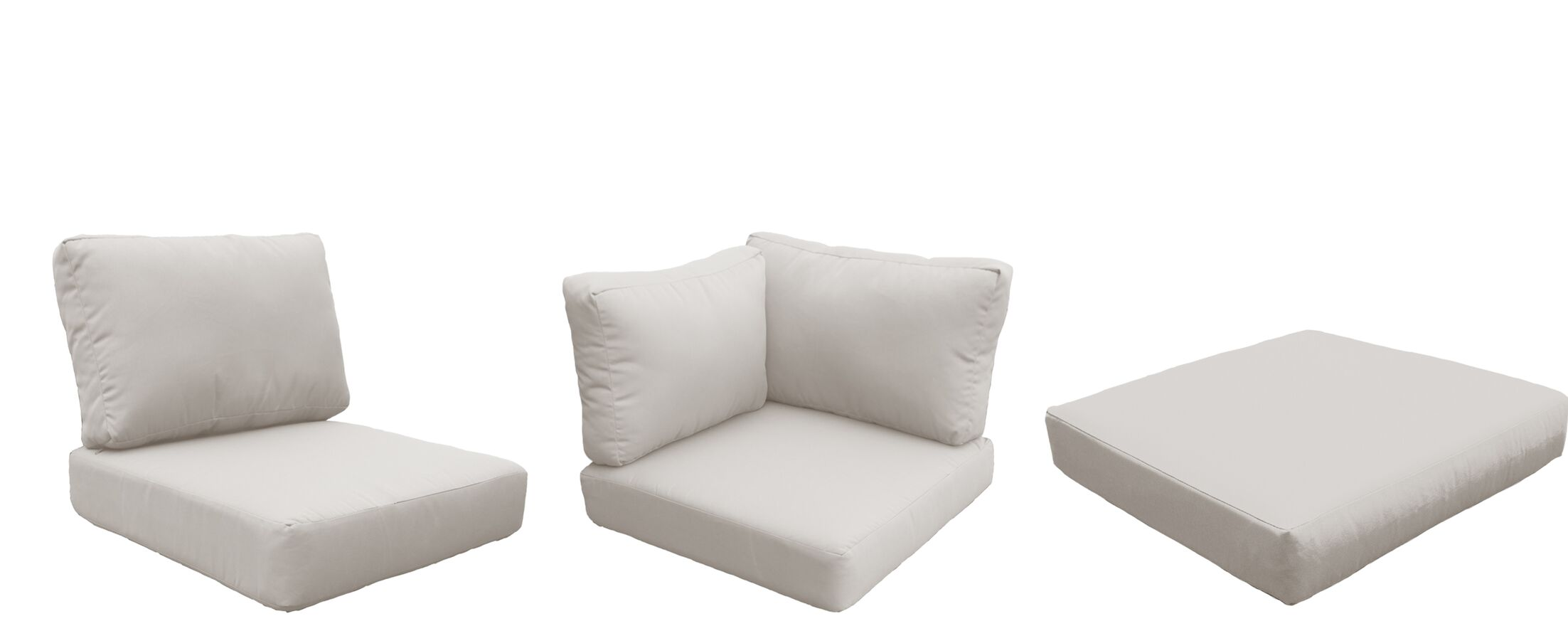 Florence 25 Piece Outdoor Cushion Set Fabric: Beige