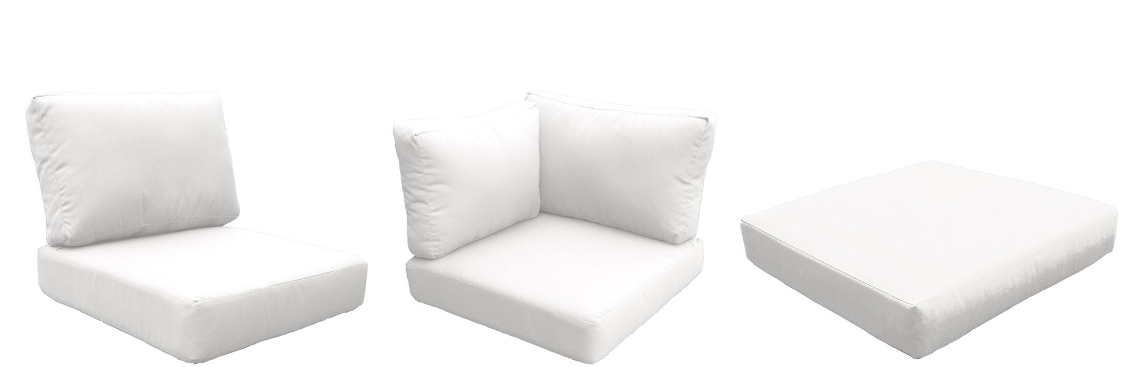 Miami 12 Piece Outdoor Cushion Set Fabric: White