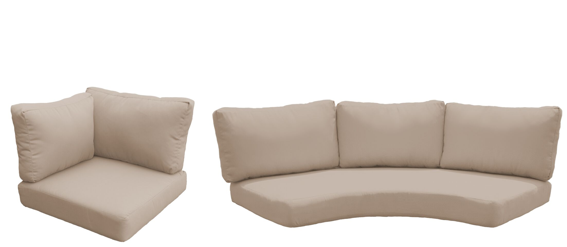 Florence 10 Piece Outdoor Cushion Set Fabric: Wheat
