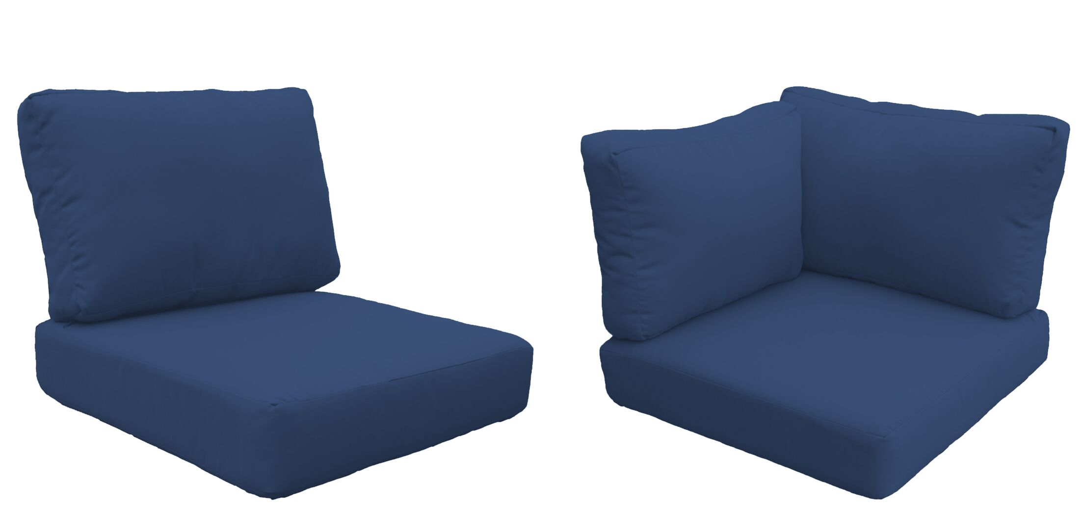 Florence 10 Piece Outdoor Cushion Set Fabric: Navy