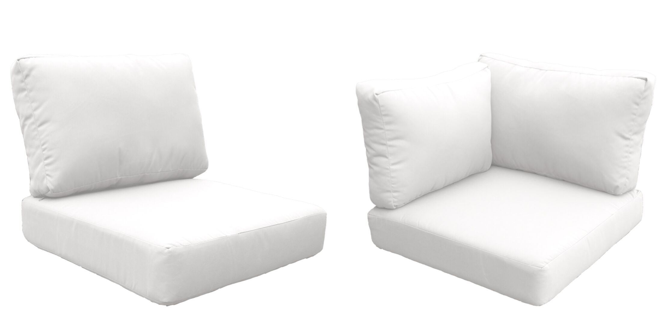 Florence 10 Piece Outdoor Cushion Set Fabric: White