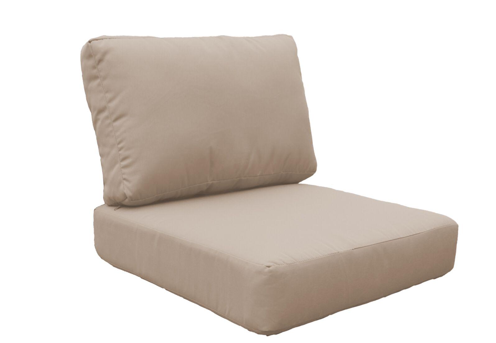 Miami Outdoor Lounge Chair Cushion Fabric: Wheat