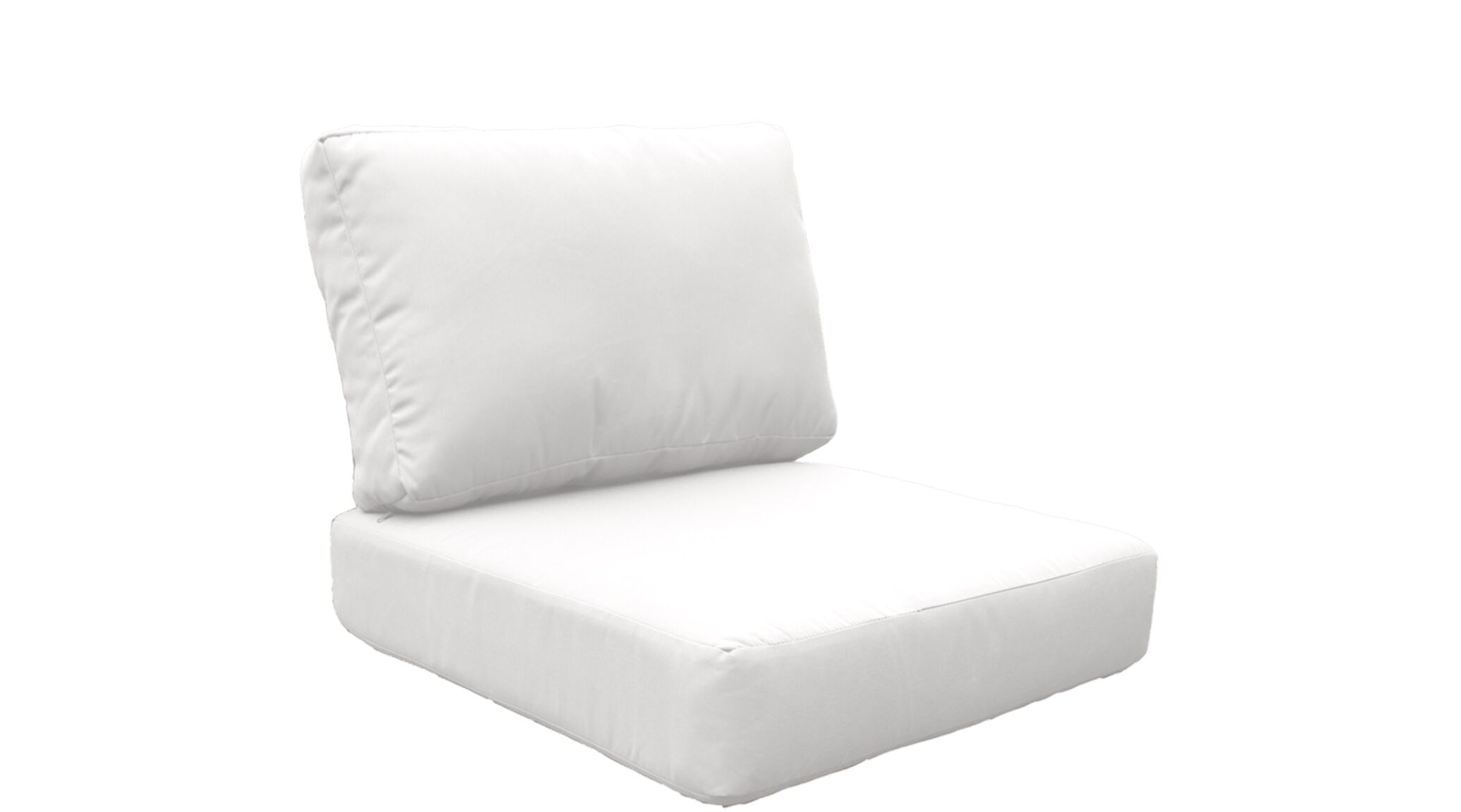 Miami 10 Piece Outdoor Lounge Chair Cushion Set Fabric: White