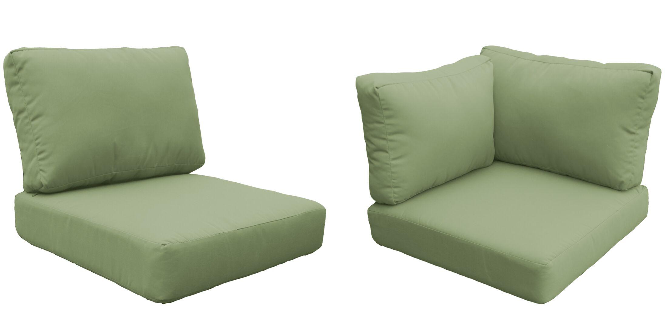 Barbados 17 Piece Outdoor Cushion Set Fabric: Cilantro