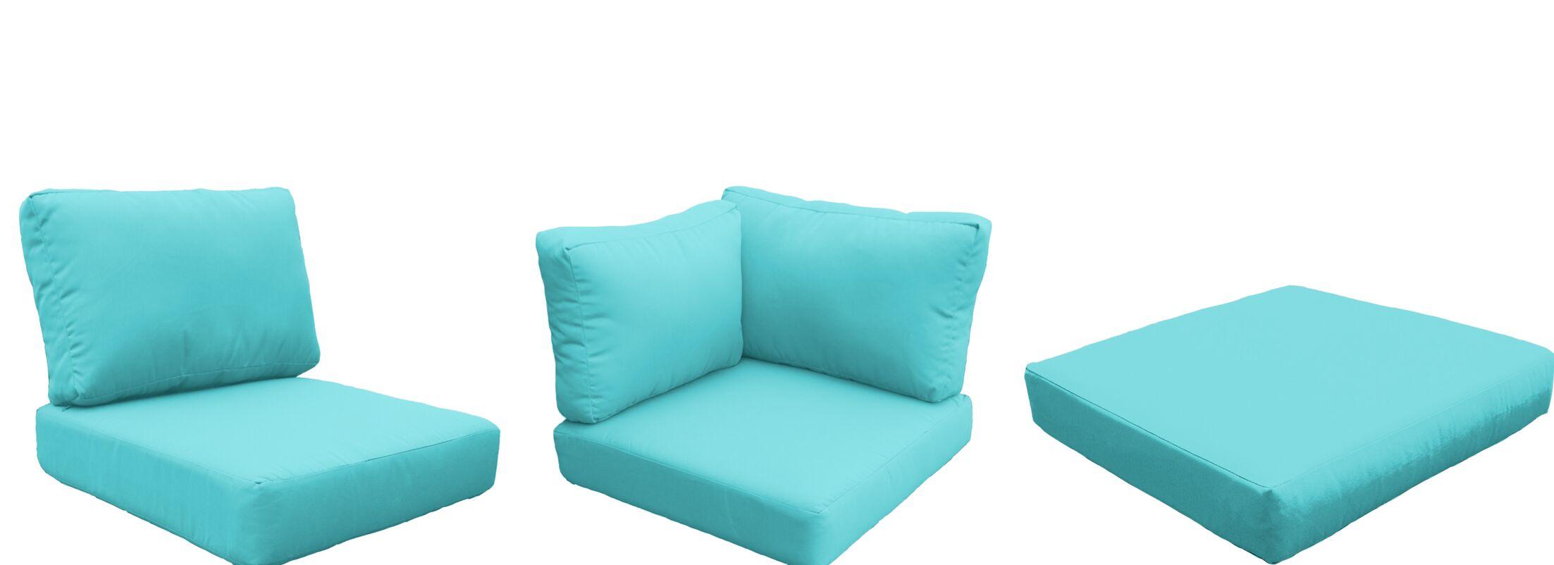 Florence 9 Piece Outdoor Cushion Set Fabric: Aruba