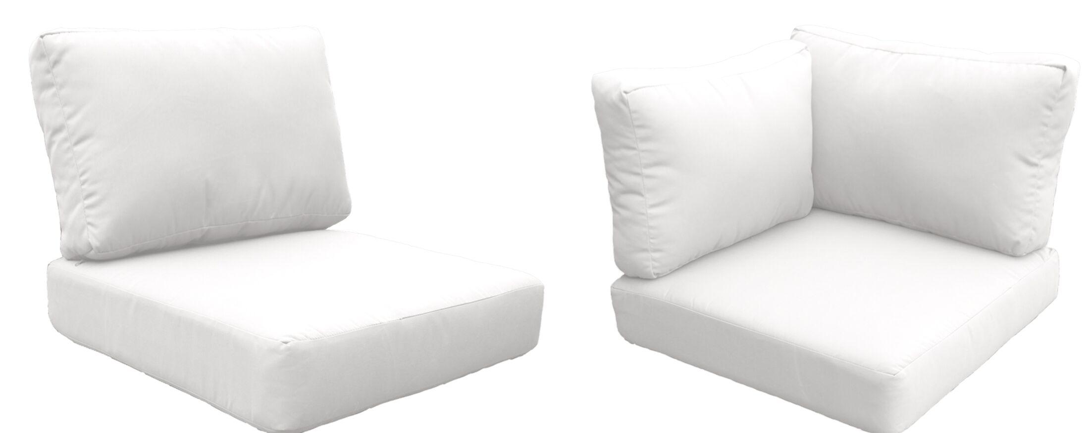 Barbados 17 Piece Outdoor Cushion Set Fabric: White