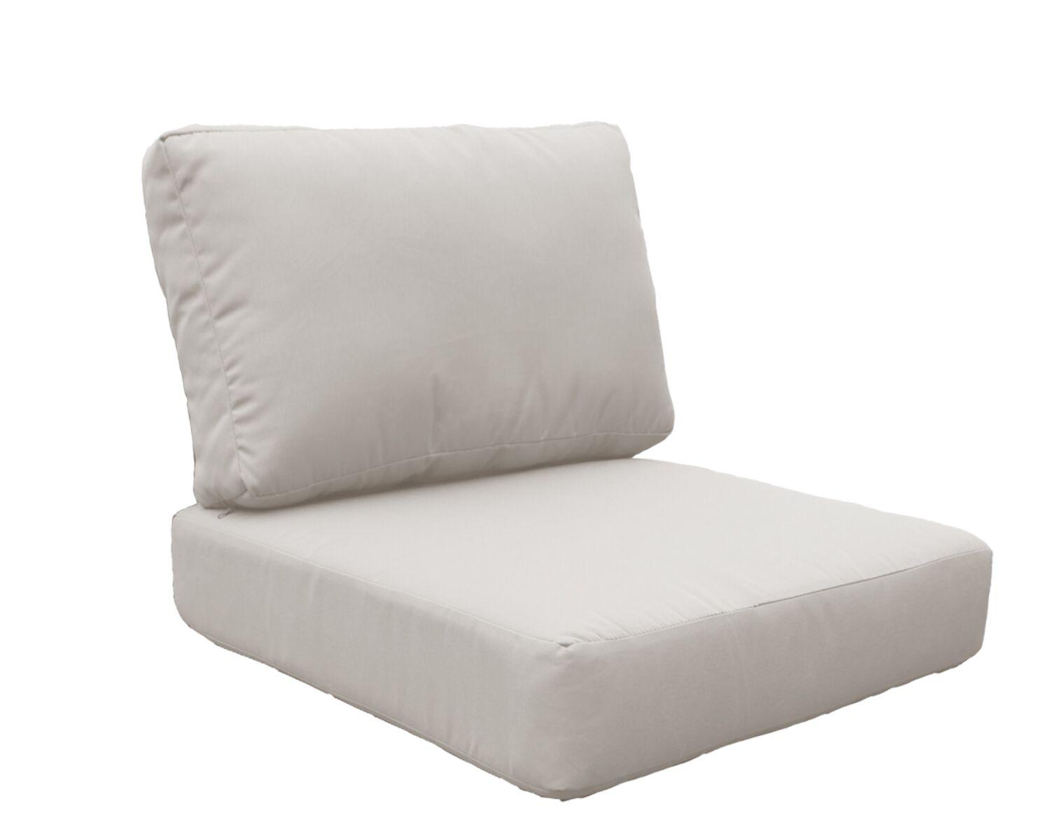 Miami 6 Piece Outdoor Lounge Chair Cushion Set Fabric: Beige