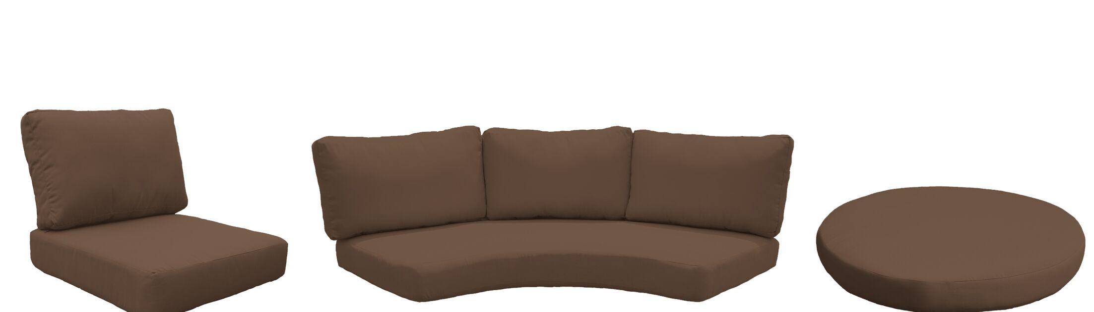 Barbados 15 Piece Outdoor Cushion Set Fabric: Cocoa