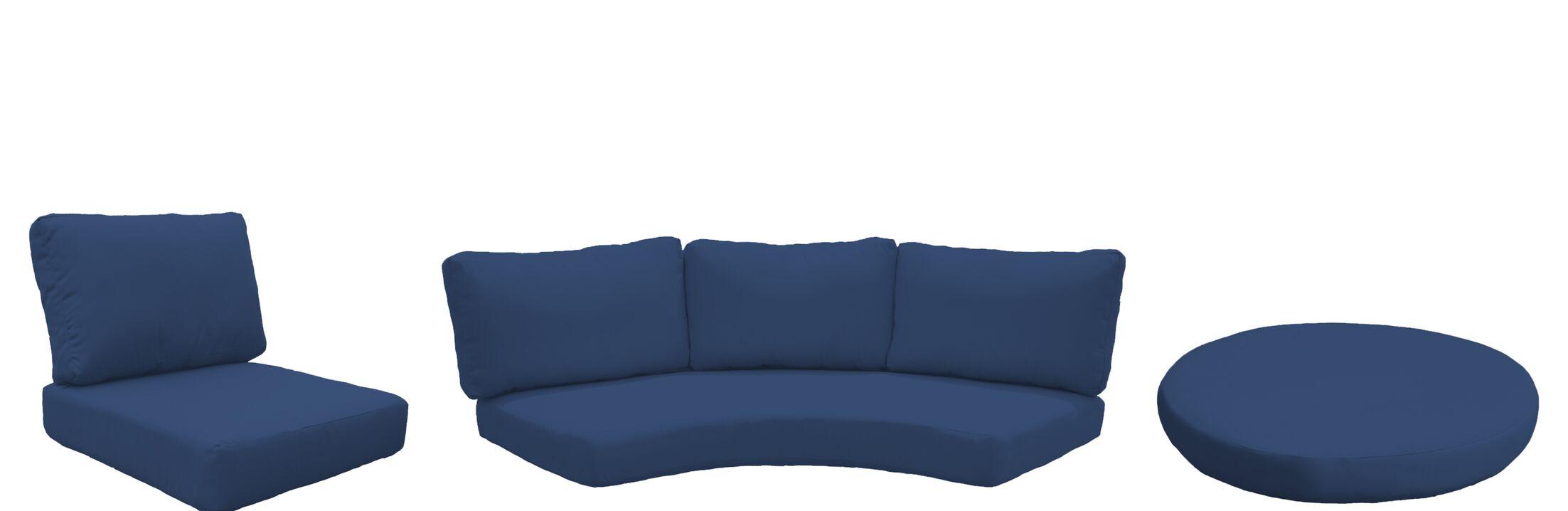 Barbados 15 Piece Outdoor Cushion Set Fabric: Navy