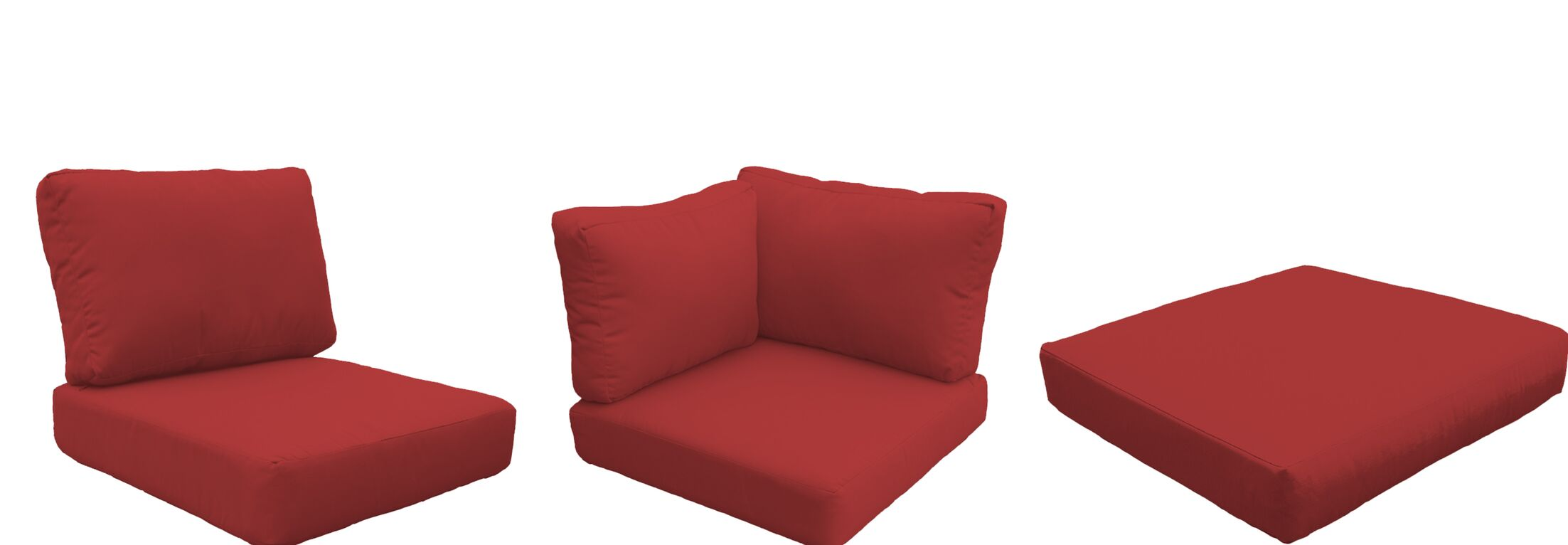 Barbados 14 Piece Outdoor Cushion Set Fabric: Terracotta