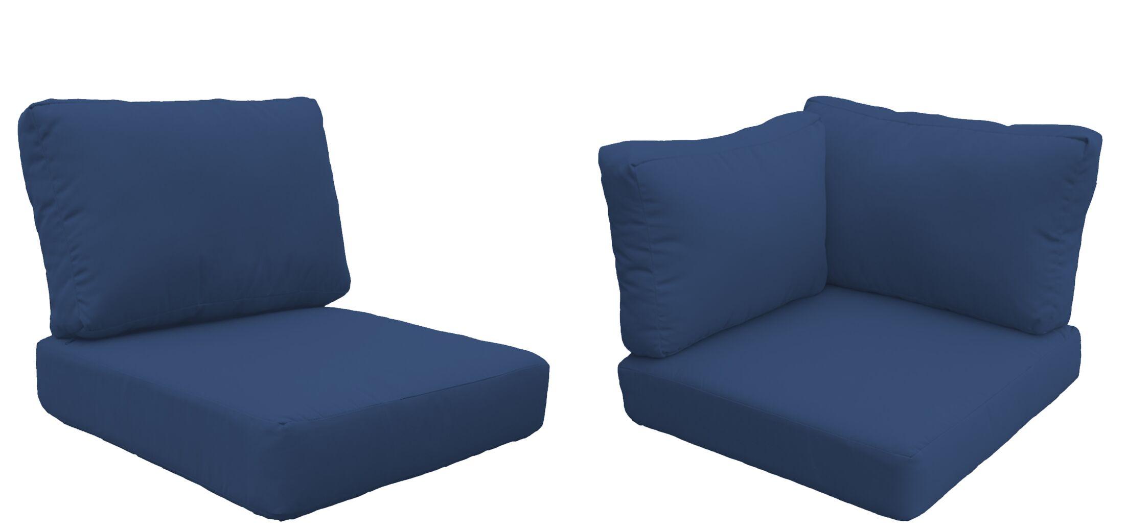 Miami 11 Piece Outdoor Cushion Set Fabric: Navy