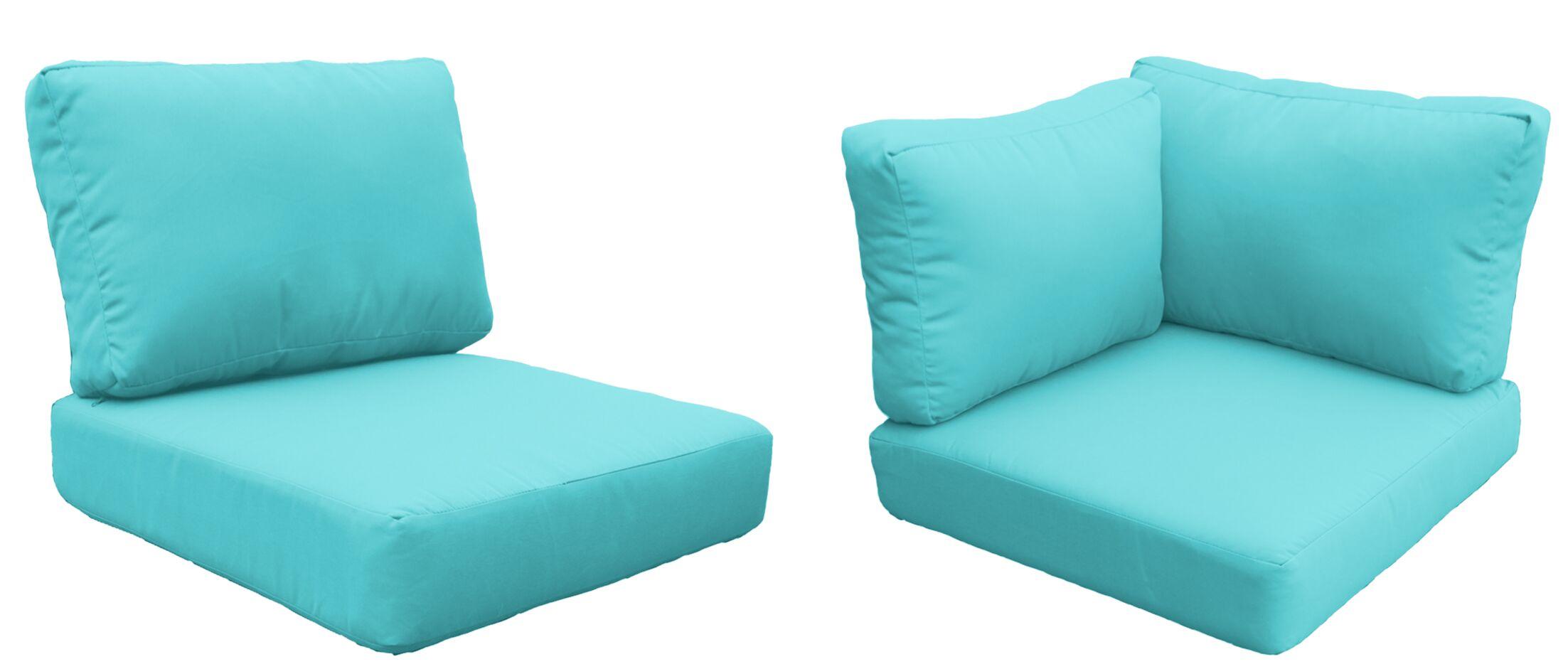 Miami 20 Piece Outdoor Cushion Set Fabric: Aruba