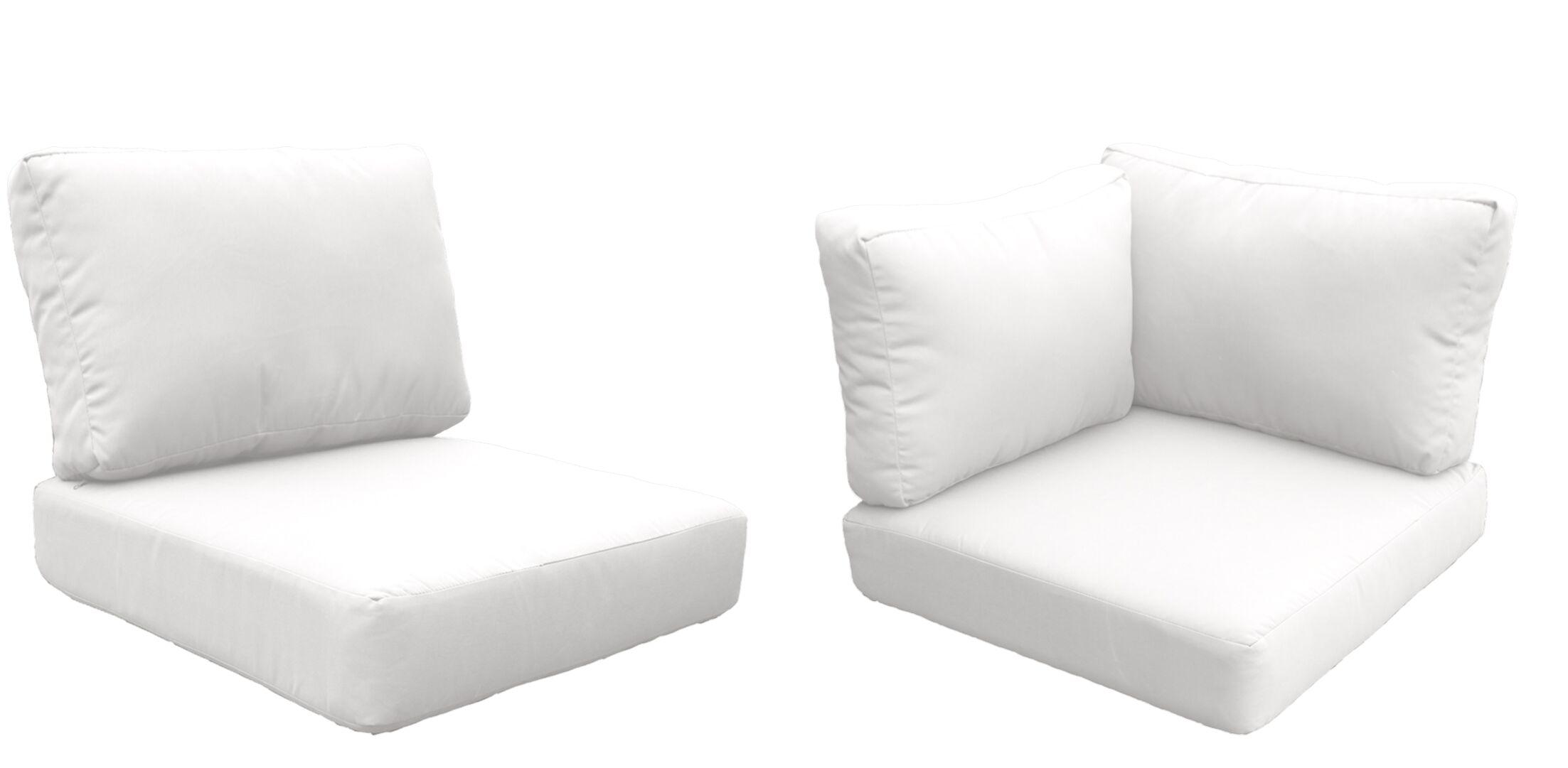 Florence 8 Piece Outdoor Cushion Set Fabric: White