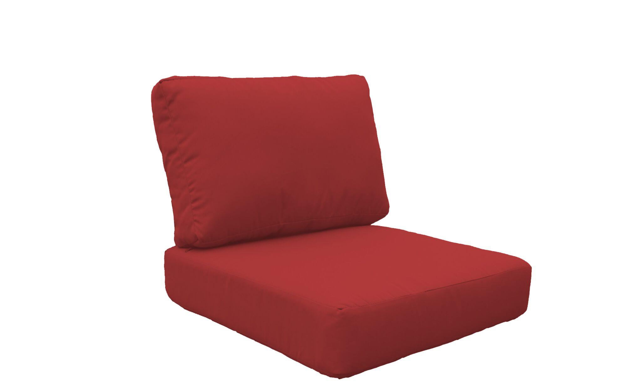Miami 10 Piece Outdoor Lounge Chair Cushion Set Fabric: Terracotta