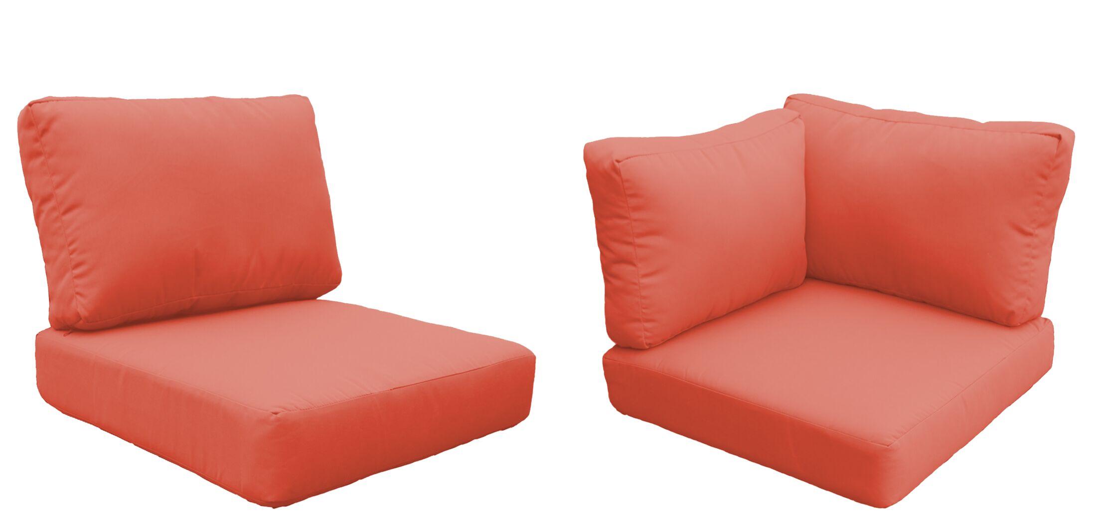Miami 19 Piece Outdoor Cushion Set Fabric: Tangerine