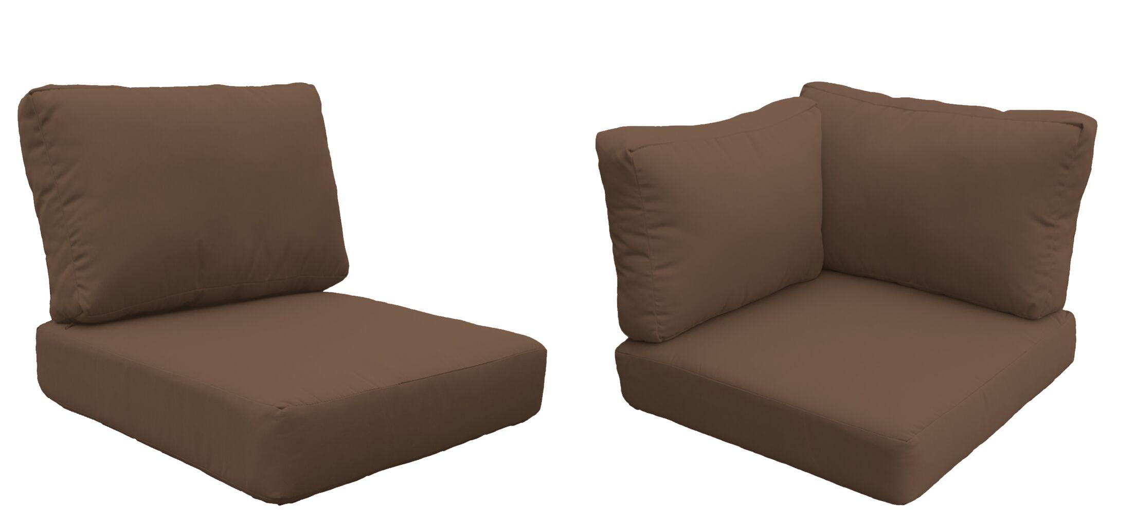 Miami 15 Piece Outdoor Cushion Set Fabric: Cocoa
