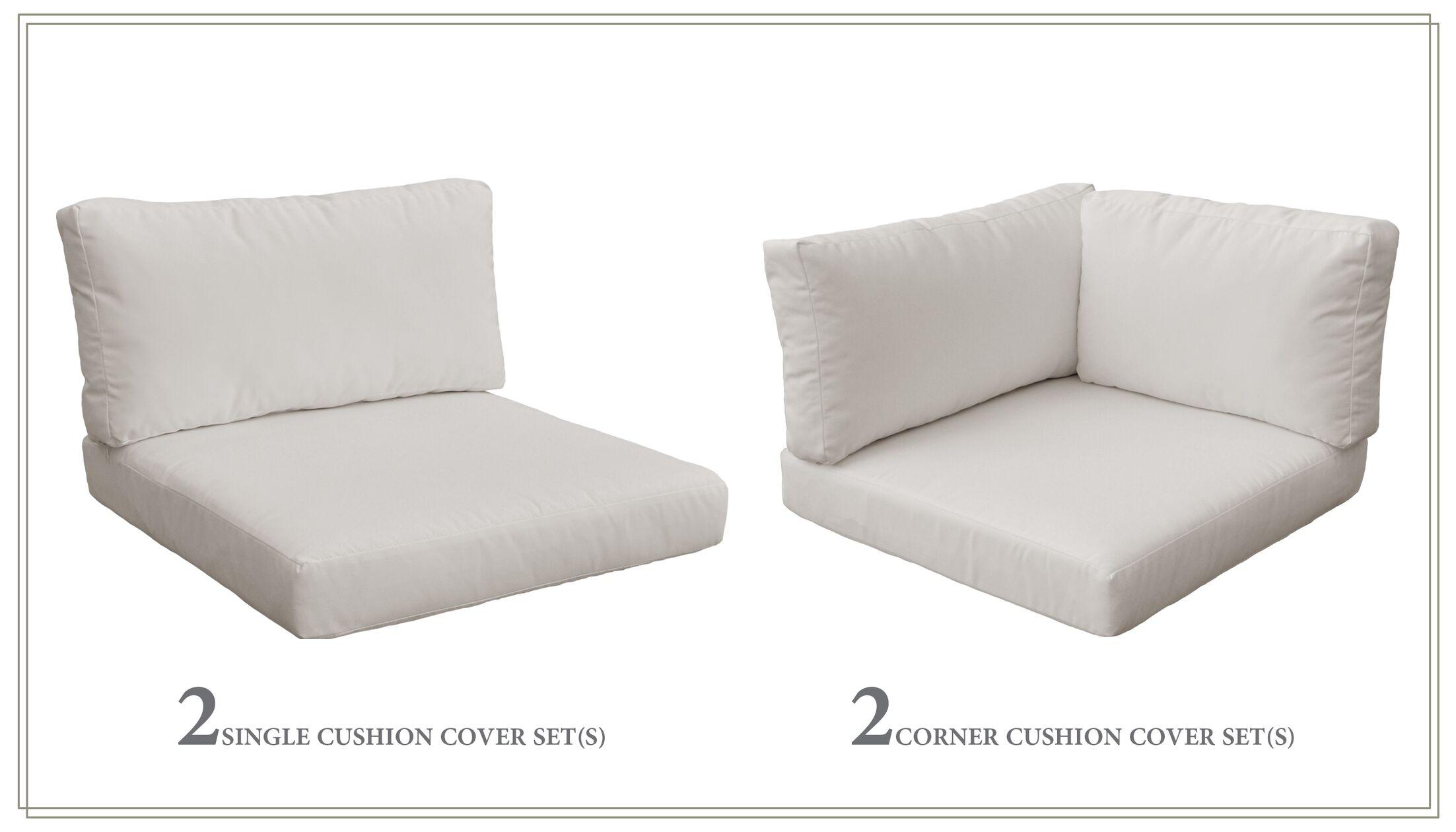 Monterey 10 Piece Outdoor Cushion Set Fabric: Beige