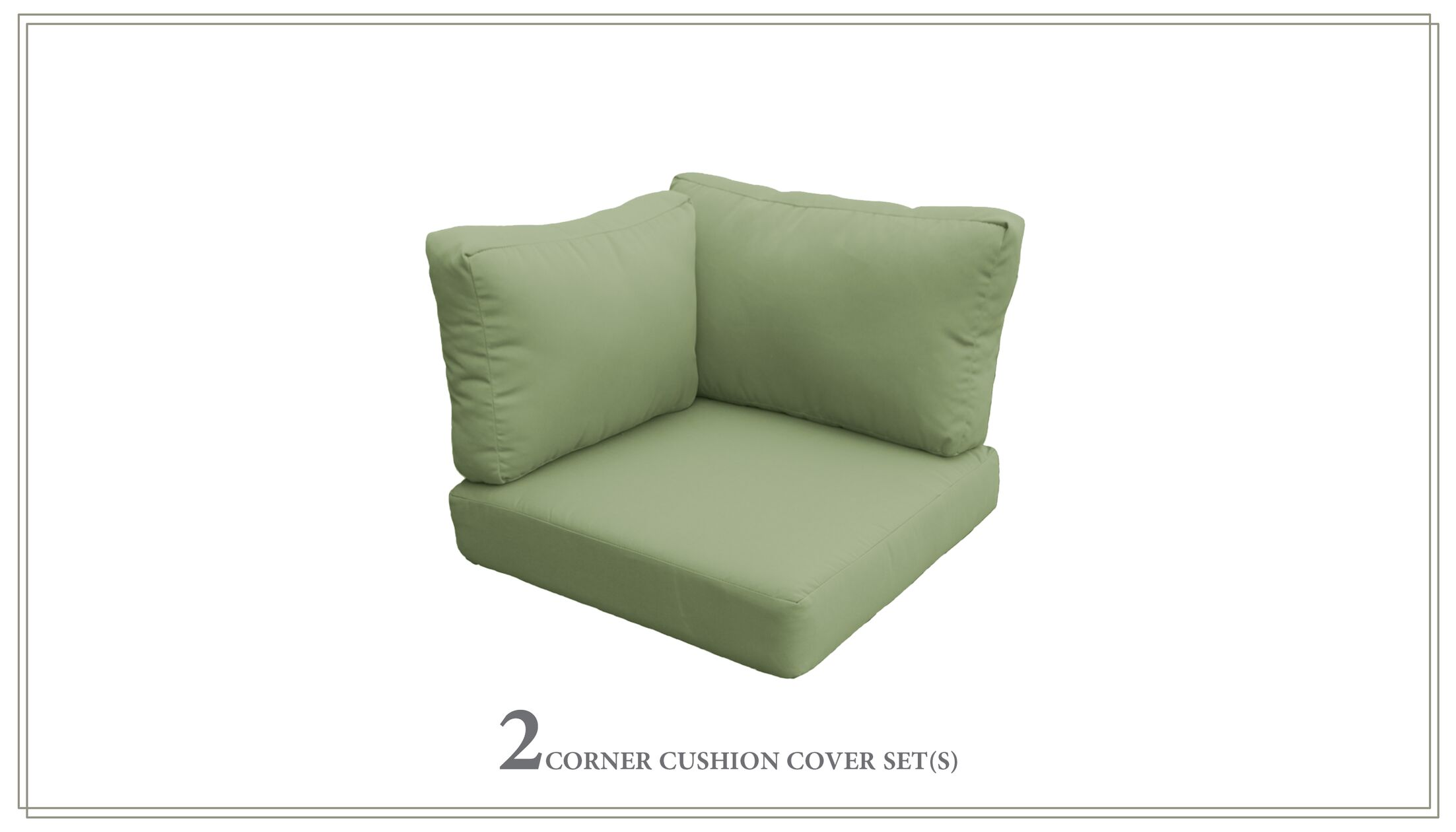 Capecod Outdoor Replacement Cushion Set Fabric: Cilantro