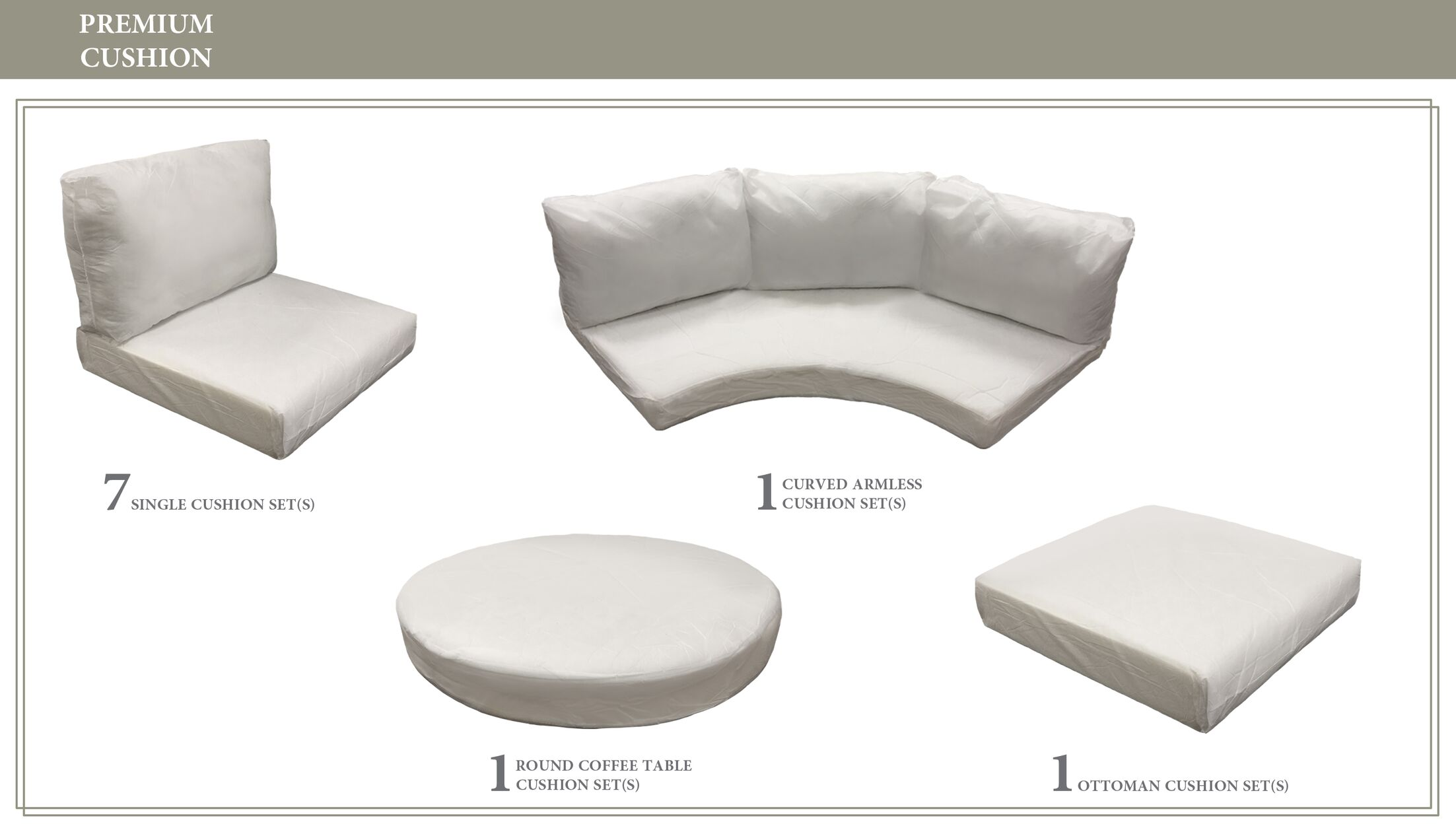 Fairmont Outdoor 20 Piece Lounge Chair Cushion Set