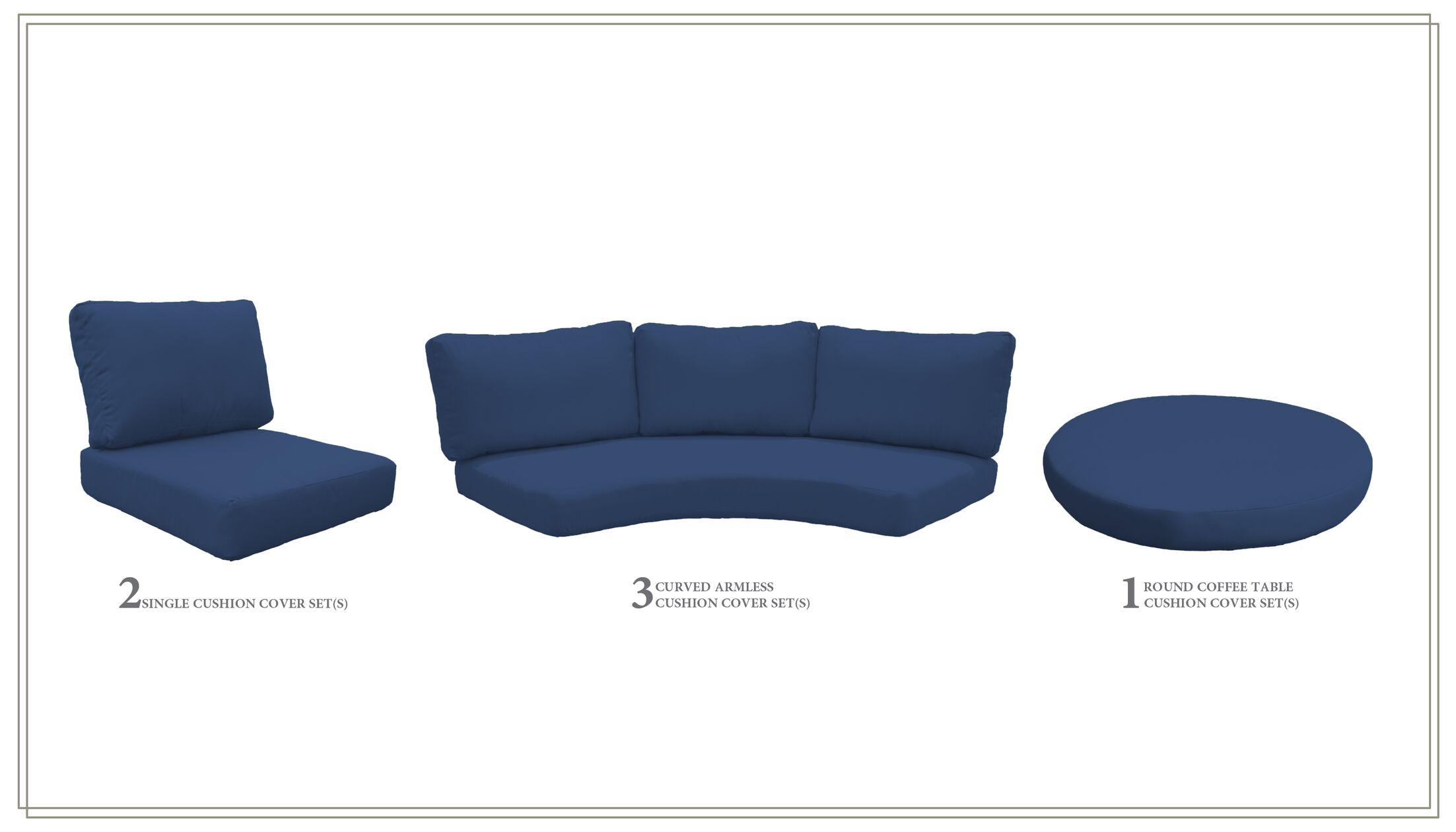 East Village 17 Piece Outdoor Cushion Set Fabric: Navy