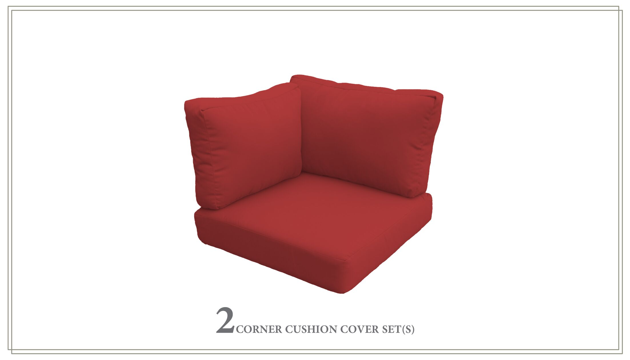 Capecod Outdoor Replacement Cushion Set Fabric: Terracotta