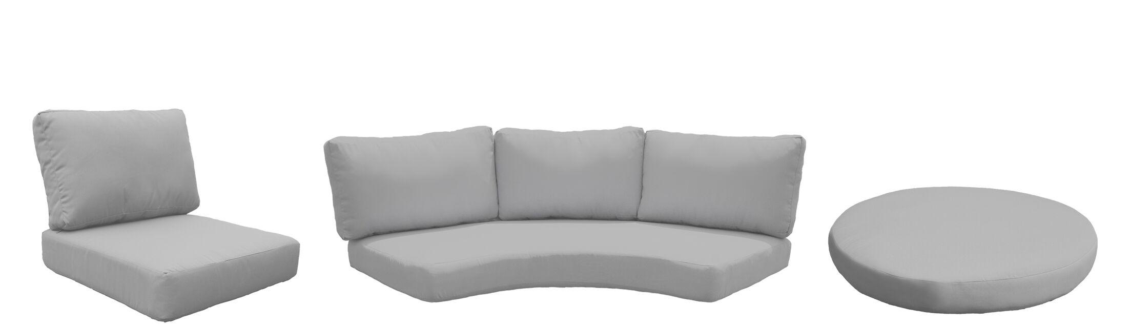Fairmont 9 Piece Outdoor Cushion Set Fabric: Gray