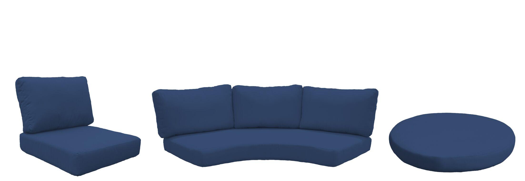 Fairmont 9 Piece Outdoor Cushion Set Fabric: Navy