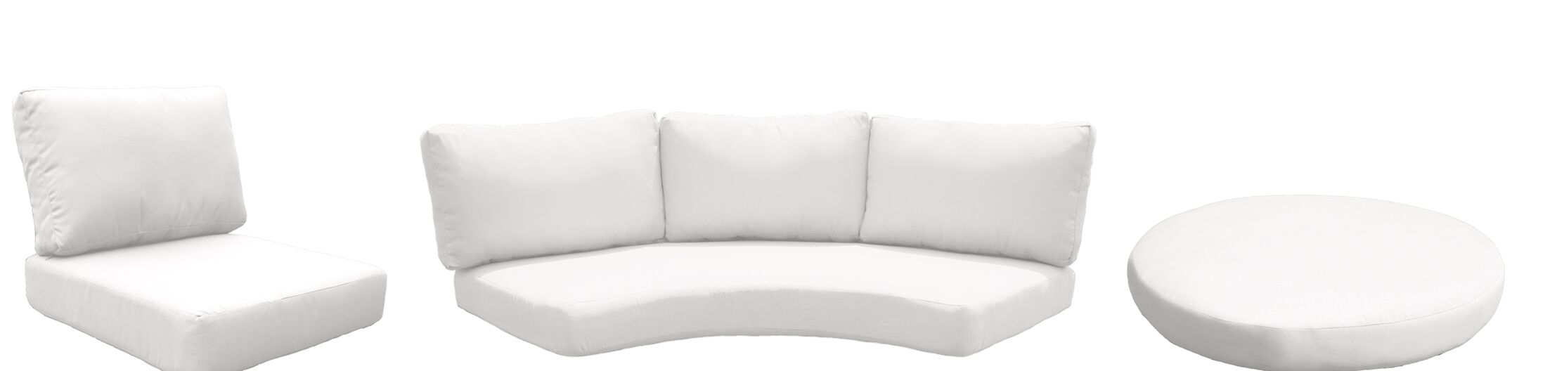 Fairmont 9 Piece Outdoor Cushion Set Fabric: White