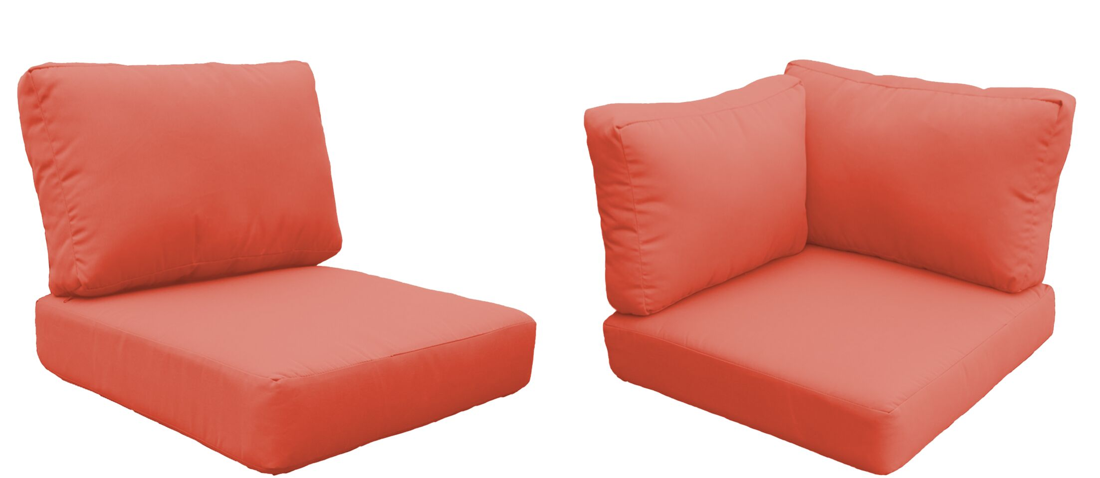 Fairmont 22 Piece Outdoor�Cushion Set Fabric: Tangerine