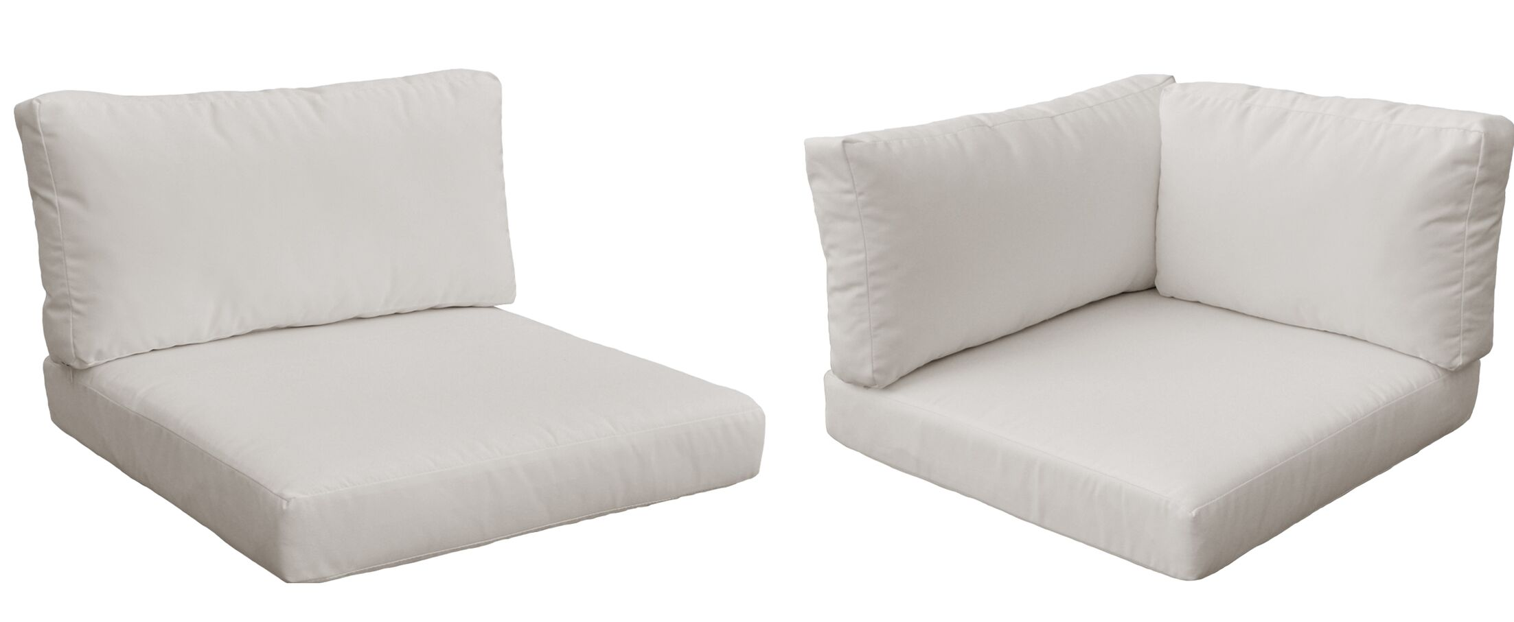Monaco 20 Piece Outdoor�Cushion Set Fabric: Beige