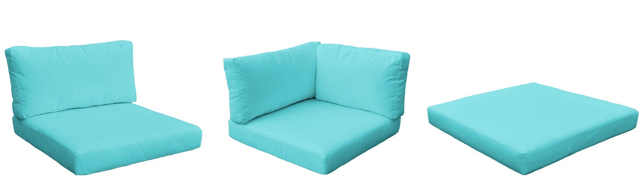 Monterey Outdoor 23 Piece Lounge Chair Cushion Set Fabric: Aruba