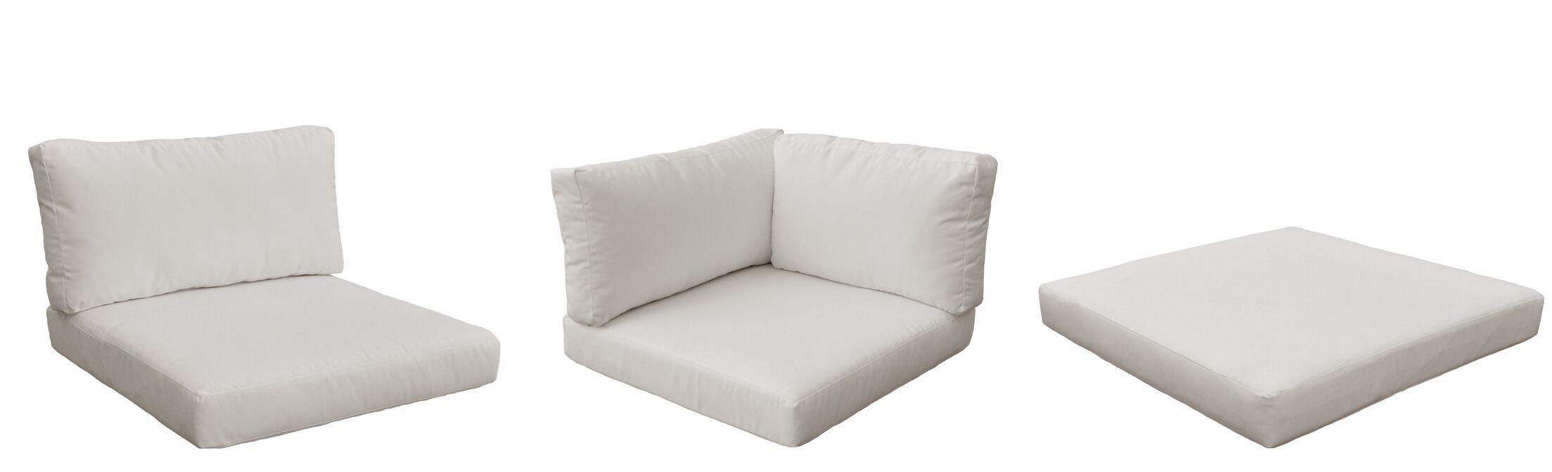 Monterey Outdoor 23 Piece Lounge Chair Cushion Set Fabric: Beige