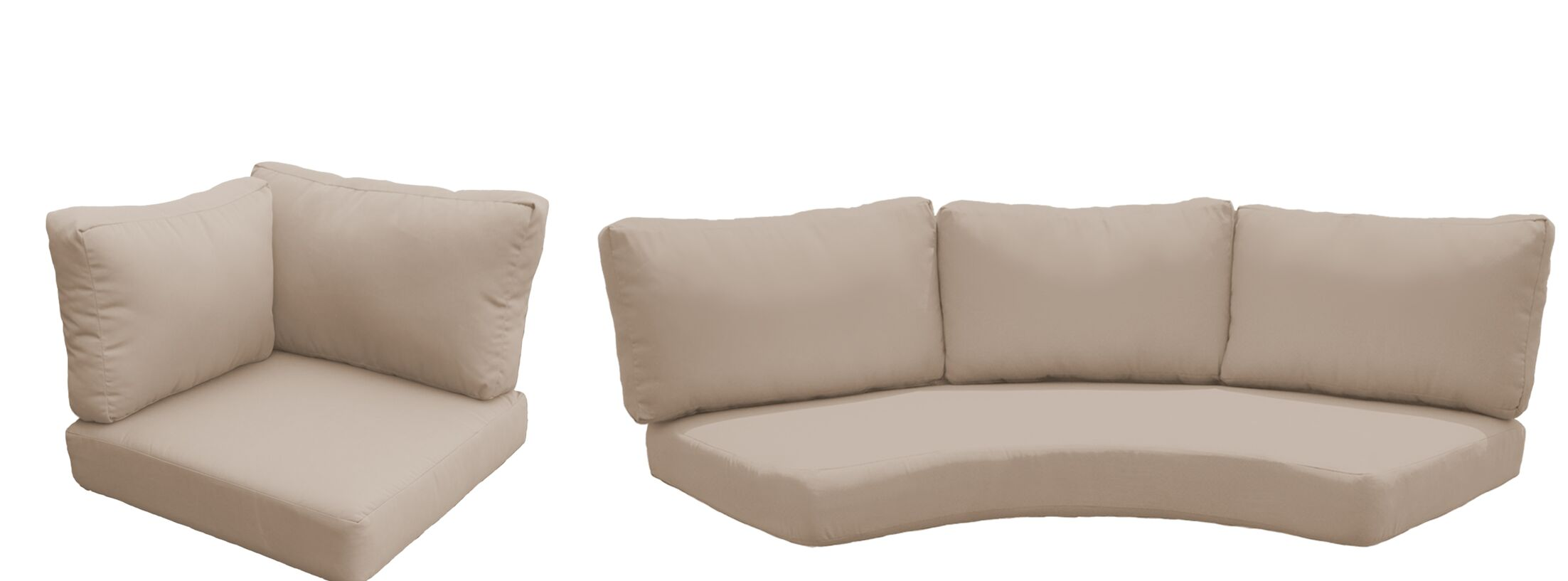 East Village 10 Piece Outdoor Cushion Set Fabric: Wheat
