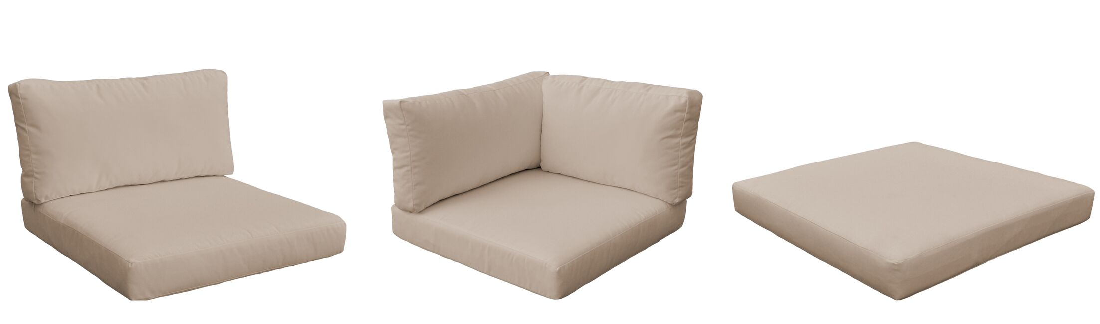 Monterey Outdoor 23 Piece Lounge Chair Cushion Set Fabric: Wheat