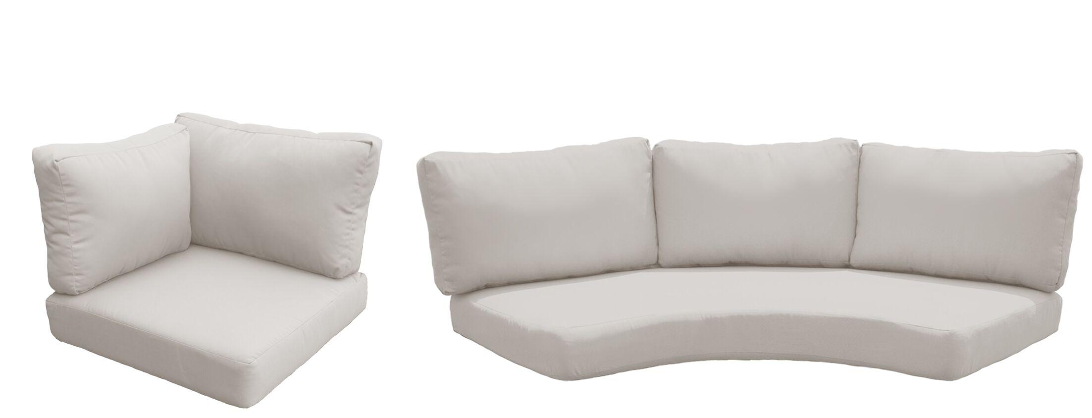 East Village 10 Piece Outdoor Cushion Set Fabric: Beige