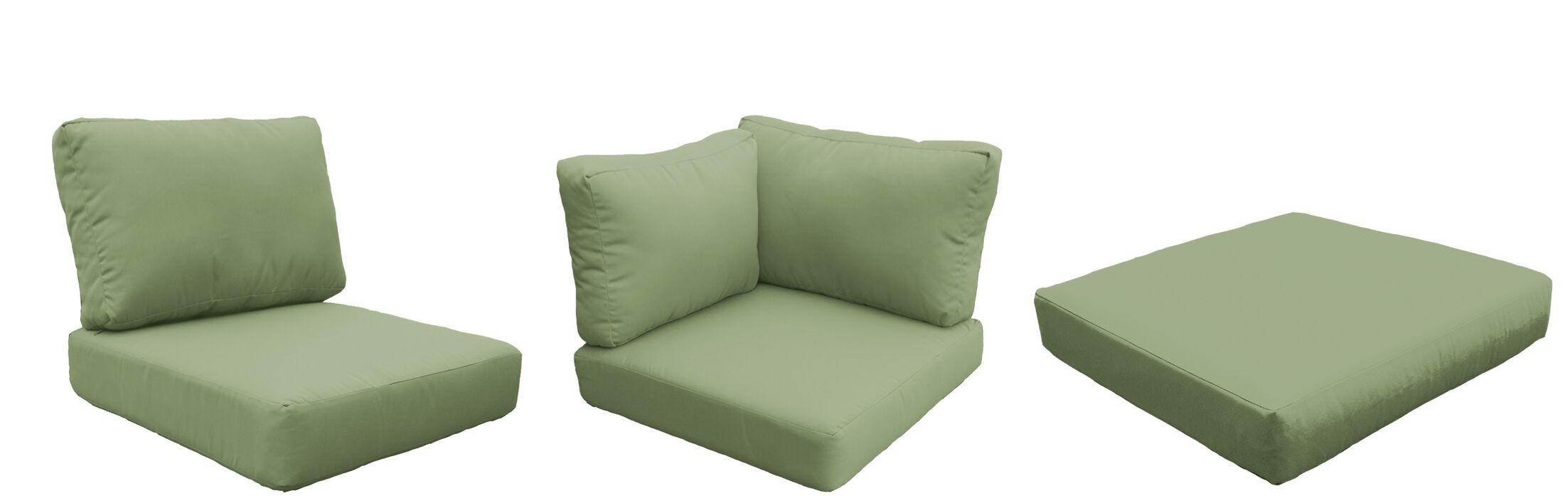 East Village Outdoor 22 Piece Lounge Chair Cushion Set Fabric: Cilantro